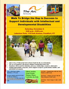 Arc of KEntucky Walk to Bridge the Gap Flyer